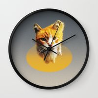 ginger Wall Clocks featuring Ginger by mtheb