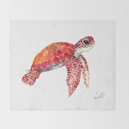 Turtle Children Animal design Red, pink Orange cute turtle Throw Blanket