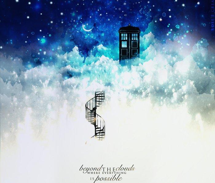 Beyond the clouds   Doctor Who Metal Travel Mug