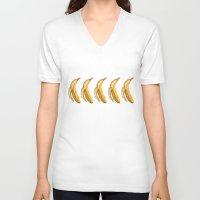 banana V-neck T-shirts featuring Banana by Ken Coleman