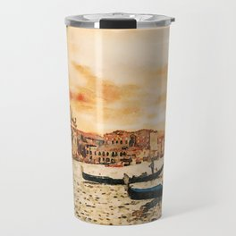 Grand Canal Channel Watercolor Digital Painting Travel Mug