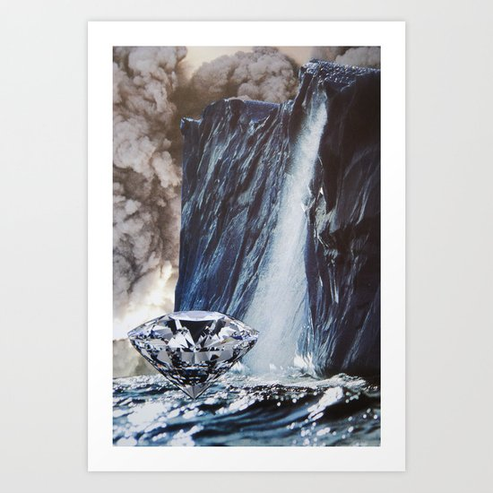 Diamond Sea Art Print