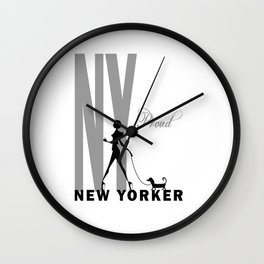 Proud New Yorker Wall Clock