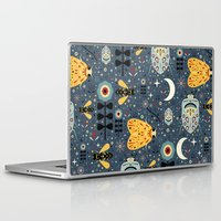 bugs Laptop & iPad Skins featuring Midnight Bugs  by Carly Watts