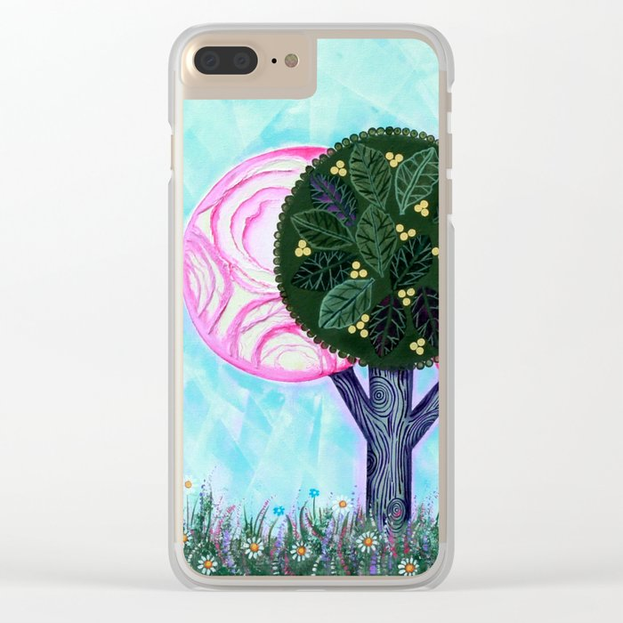 Pink grove Clear iPhone Case
