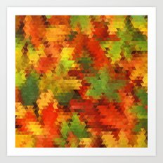 Autumn Triangles 28/04/14 Art Print