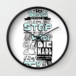 The Bro Code - Article 84 Wall Clock
