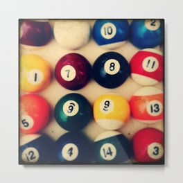 TTV Pool Balls Photography Metal Print
