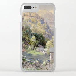 Overlooking the Hohenwerfen Fortress in Salzburg by Edward Theodor Compton Clear iPhone Case