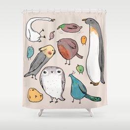 Lump Birds Shower Curtain