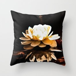 Moonlight WaterLily Throw Pillow