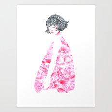 poppy girl Art Print