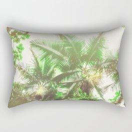 Watercolor Tropical Rainforest Rectangular Pillow