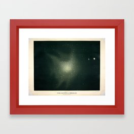 Star clusters in Hercules by Étienne Léopold Trouvelot (1877) Framed Art Print