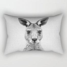 Kangaroo 2 - Black & White Rectangular Pillow