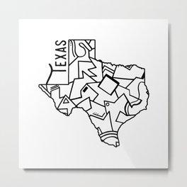 Texas Strong Metal Print