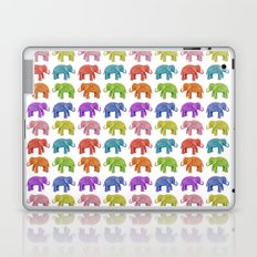 Colorful Parade of Elephants in Red, Orange, Yellow, Green, Blue, Purple and Pink Laptop & iPad Skin