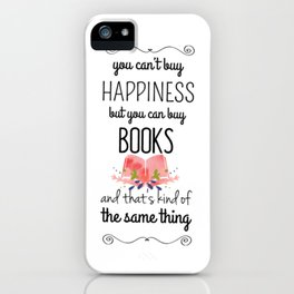 you can buy books iPhone Case