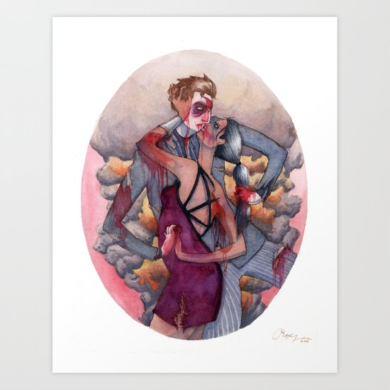 Hard Love Art Print