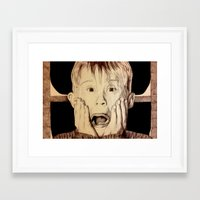 home alone Framed Art Prints featuring Home Alone by DeMoose_Art
