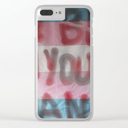 Our Blood Is On Your Hands Clear iPhone Case