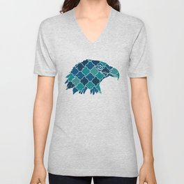 EAGLE SILHOUETTE HEAD WITH PATTERN Unisex V-Neck