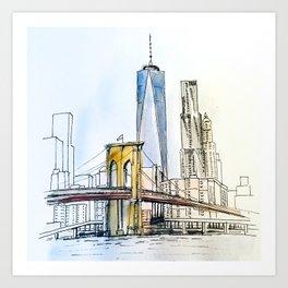 Rise up NYC Art Print