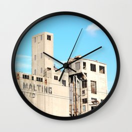 Old abandoned factory Wall Clock