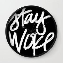 Stay Woke Wall Clock
