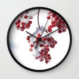 Delicate Snow Wall Clock