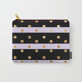 stripes and polka dot pattern Carry-All Pouch
