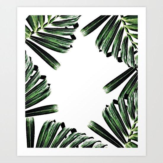 Palm Leaf Watercolor Pattern #society6 #decor #buyart Art Print