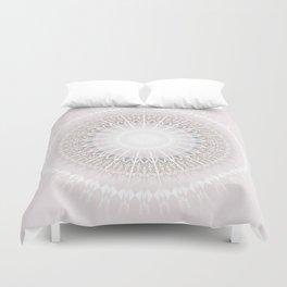 Pastel Gray Mandala Duvet Cover