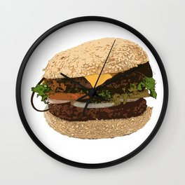 Be Careful What You Eat Wall Clock