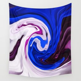Painted Silk Wall Tapestry