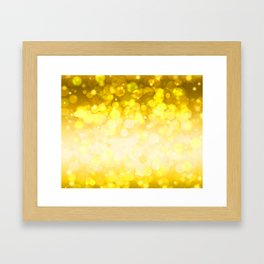 Golden pattern Framed Art Print