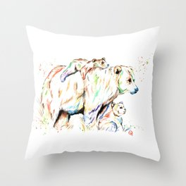 Bear Family - and then there were 3 Throw Pillow