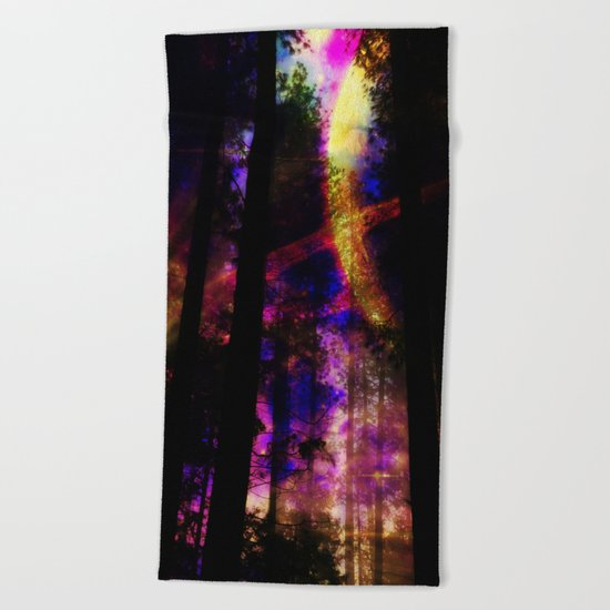 close your eyes and dream with me Beach Towel