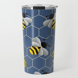 Bumbled Blue Travel Mug