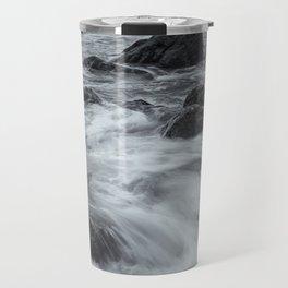 Waves and Rocks Travel Mug