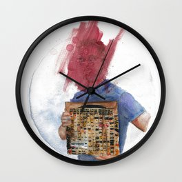 Anti-Portrait with Vinyl The Streets Original Pirate Material Wall Clock