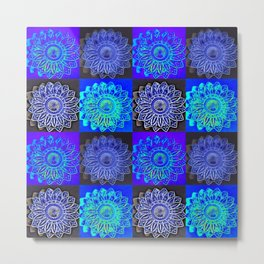 Many Blue Stars Metal Print