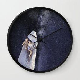 Milky Canoe Wall Clock