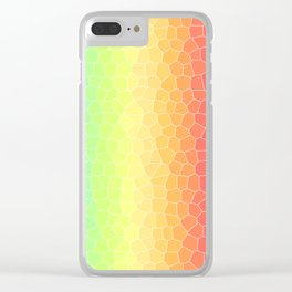 Rainbow Crackle Texture Abstract Art | Easter | Spring Clear iPhone Case