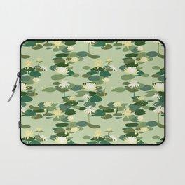 Waterlily pattern in Green Laptop Sleeve