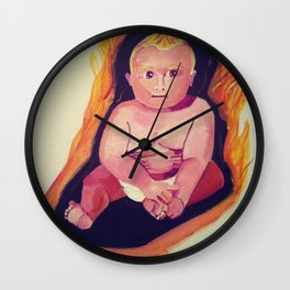 Burning Baby  Wall Clock