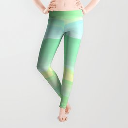 Mint Aqua Rolling Hills Leggings