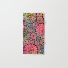 Abstract Floral Circles Hand & Bath Towel
