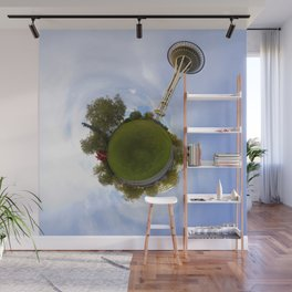 Space Needle Tiny Planet Wall Mural