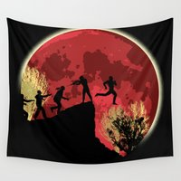 zombies Wall Tapestries featuring Zombies! Run you fool... by kamonkey